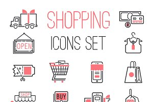 Shopping business internet icons