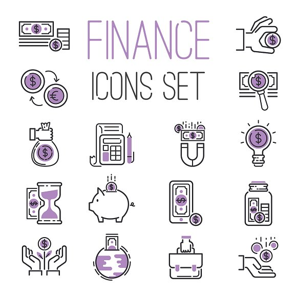 Money Finanse Banking Icons Business