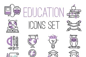 Education graduation school icons