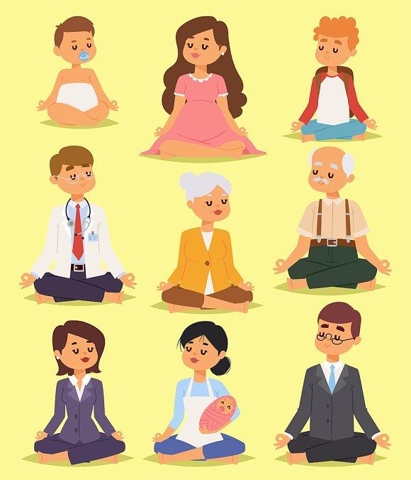 Lotus Position Yoga Meditation Peopl