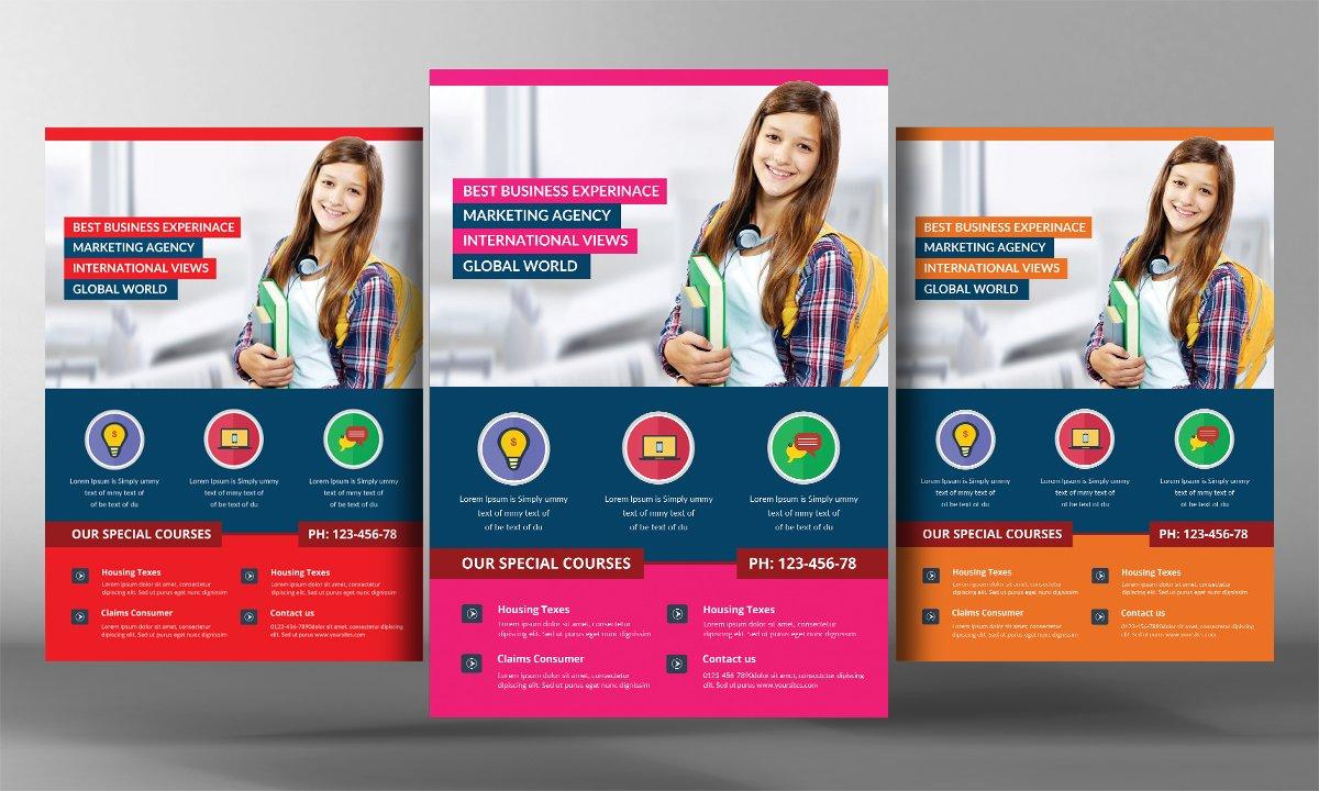 School Time Flyer Template Flyer Templates Creative Market