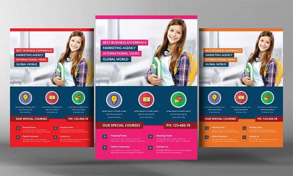 School Time Flyer Template