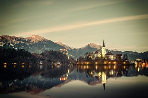 Bled lake in Slovenia
