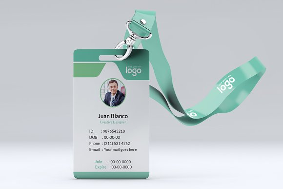 ID Card in Stationery Templates