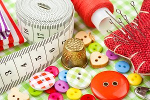 Sewing items.