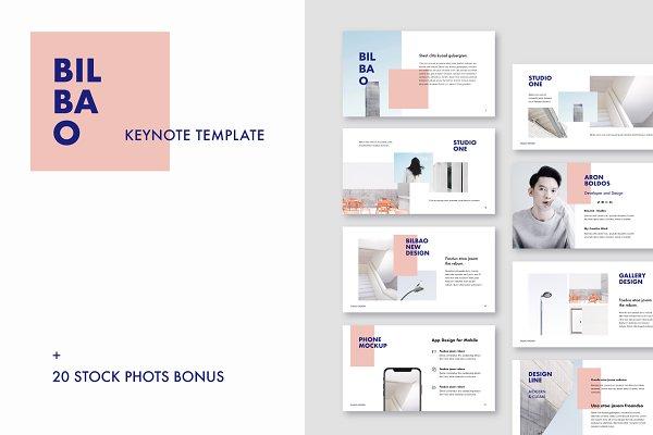 Presentation Templates: PixaSquare - Bilbao - Keynote Template + Bonus