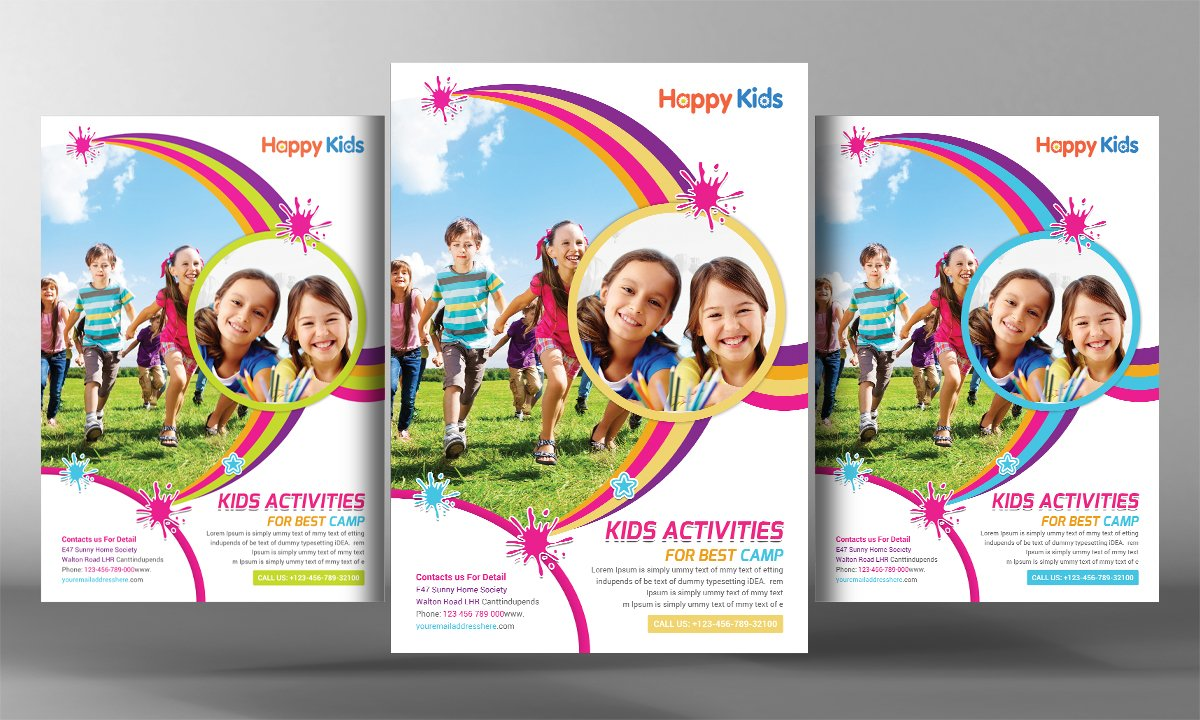 kids activities flyer flyer templates creative market
