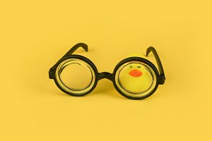 Goggles with small yellow duck