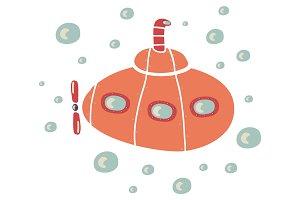 Orange submarine.