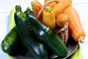 Fresh Colorful Zucchini