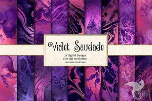 Violet Saudade Liquid Textures