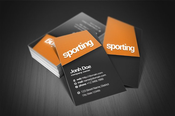 Sporting Business Card