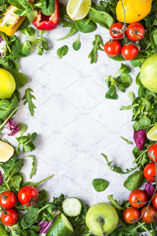 Healthy food background. Food frame. | High-Quality Food ...