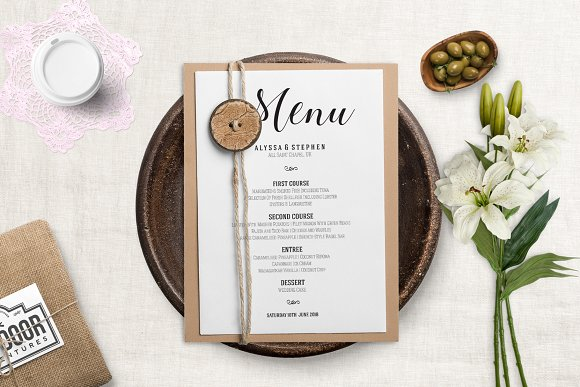 Wedding Menu Template Pdf