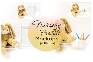 Nursery Product Mockups {4 Photos}