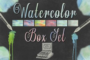 Watercolor Graphic Designer Box Set