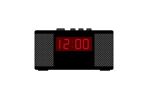 Black alarm clock