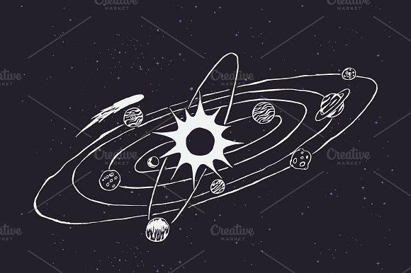 Solar System Doodle