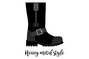 Heavy metal style shoe icon