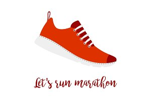 Lets run marathon style shoe