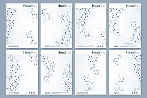 Set brochure design template