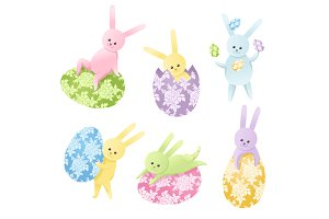 Vector Easter Bunnies