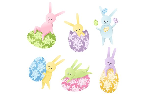 Vector Easter Bunnies