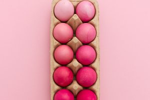Pink gradient easter eggs