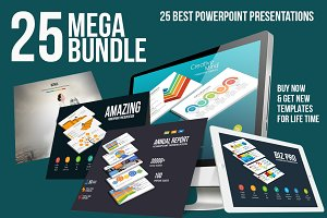 Mega Bundle 25 Powerpoint Templates