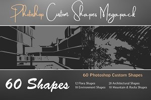 Photoshop Custom Shapes Megapack