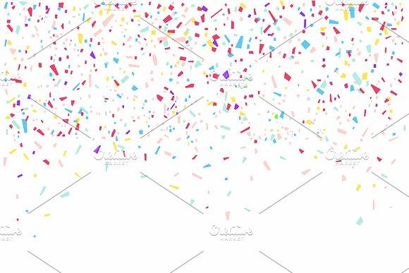 Colorful Confetti On White Backgroun