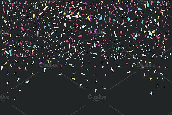 Colorful Confetti On Black Backgroun