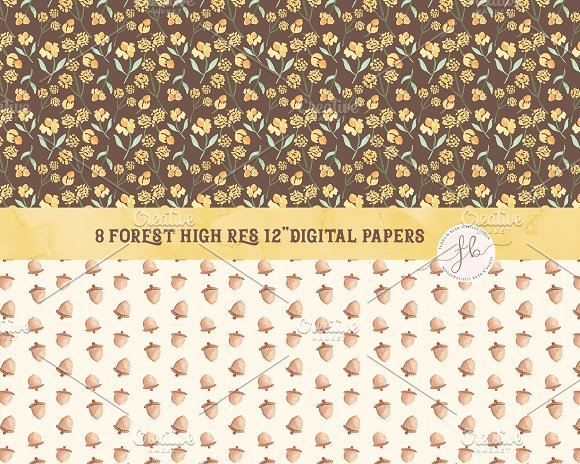 8 Forest Digital Papers
