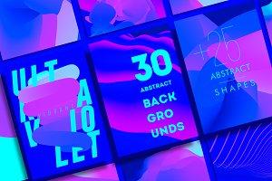 30 Vibrant Ultraviolet Backgrounds