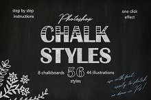 Chalk Styles for Photoshop by Tetiana Pavliuchenko in Layer Styles