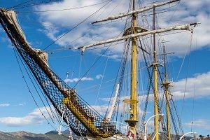 big white ship in Montenegro in Tivat