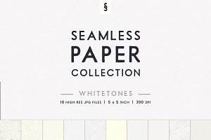 Whitetone Seamless Paper Backgrounds