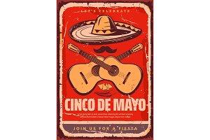 Cinco de Mayo Mexican vector sketch party poster