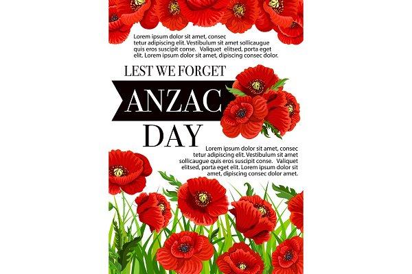Anzac Day Australian vector Lest We…