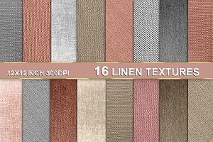 16 LINEN TEXTURE BACKGROUNDS