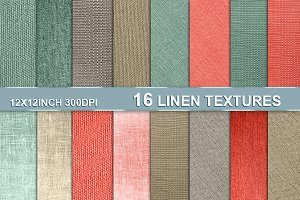 Linen texture backgrounds 12x12