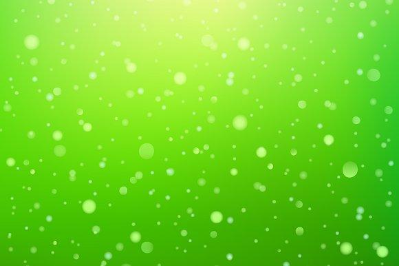 Light Sparks Bokeh On Green