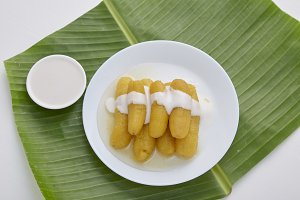 Delicious banana in syrup for Thai s