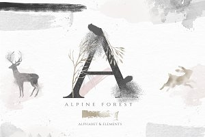 Alpine Forest - Elements & Alphabet