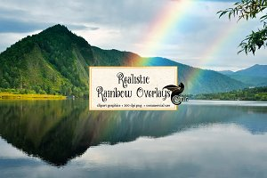 Realistic Rainbow Photo Overlays