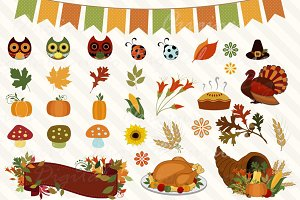 Autumn Bounty Thanksgiving Clipart