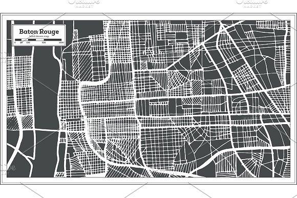 Baton Rouge Louisiana USA City Map