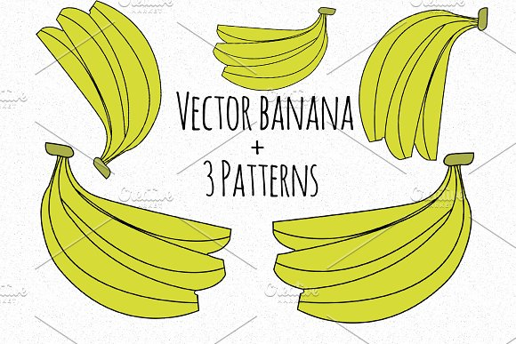 Vector cute banana