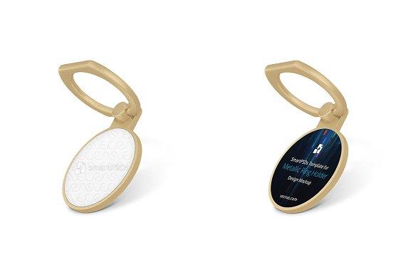 Circular Metallic Ring Holder Design