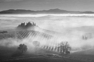 Fog in valley
